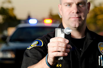 policeman and impaired driver test